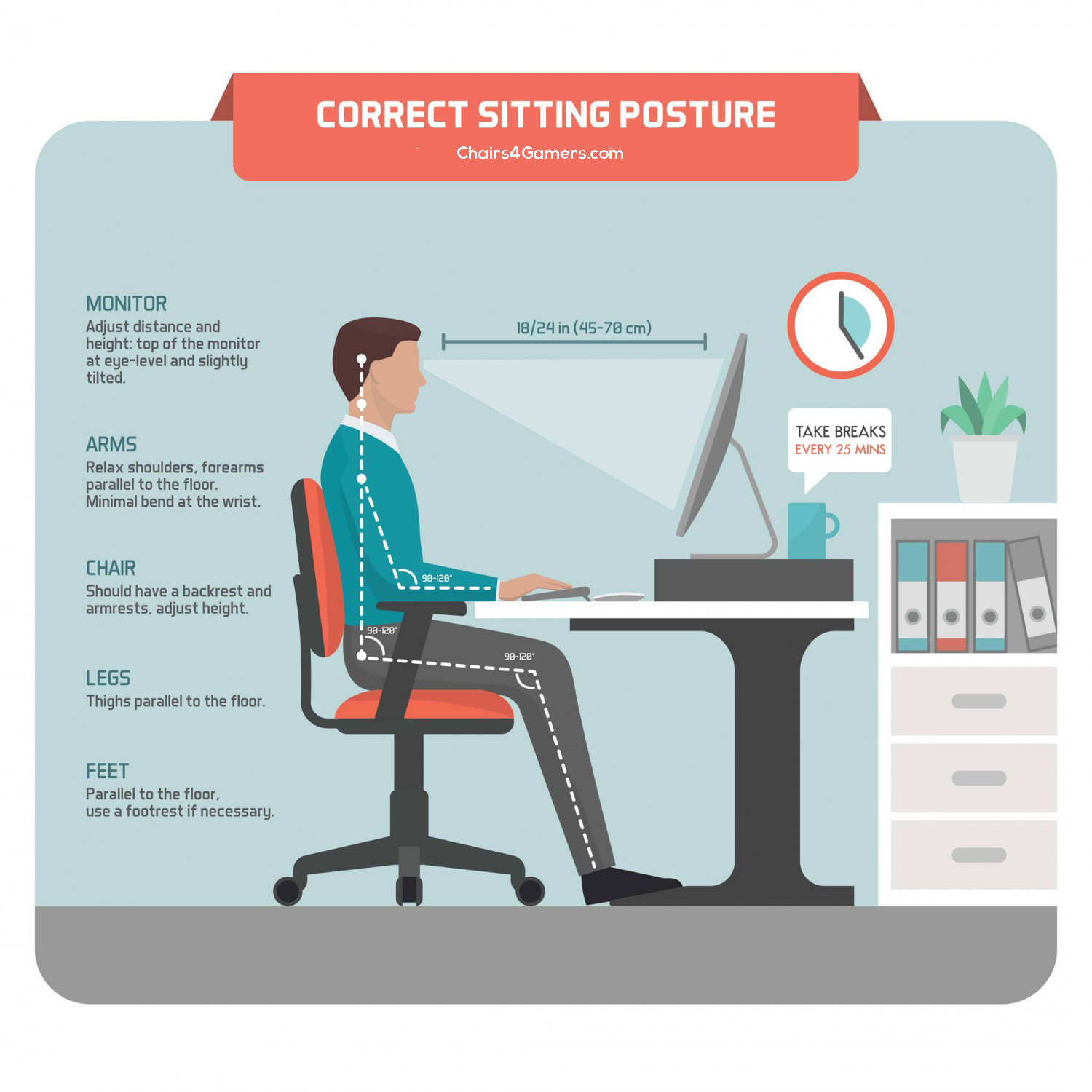 How To Fix An Office Chair That Leans Back? Best Sitting Posture 1
