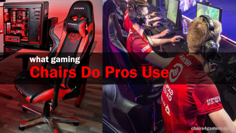 what gaming chairs do pros use
