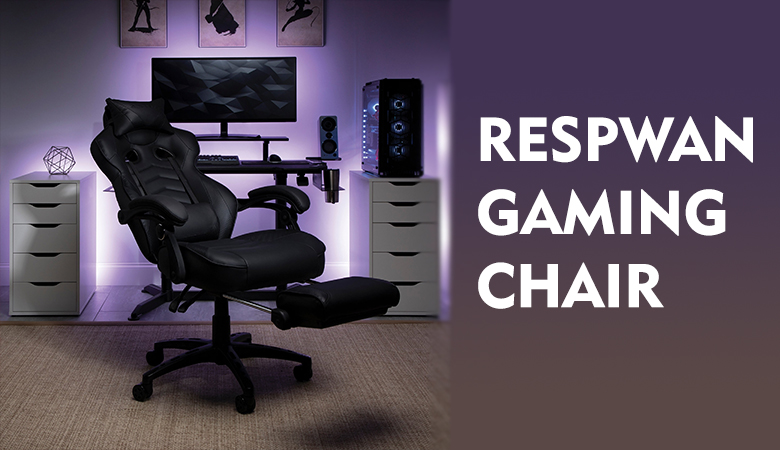 reclining gaming chair with footrest