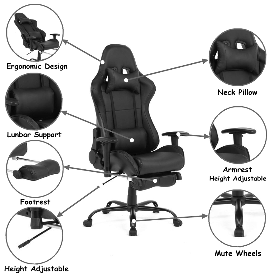 best reclining office chairs with footrest