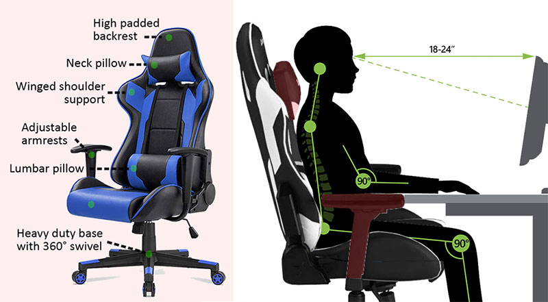 Best Reclining Office Chairs with Footrest 1