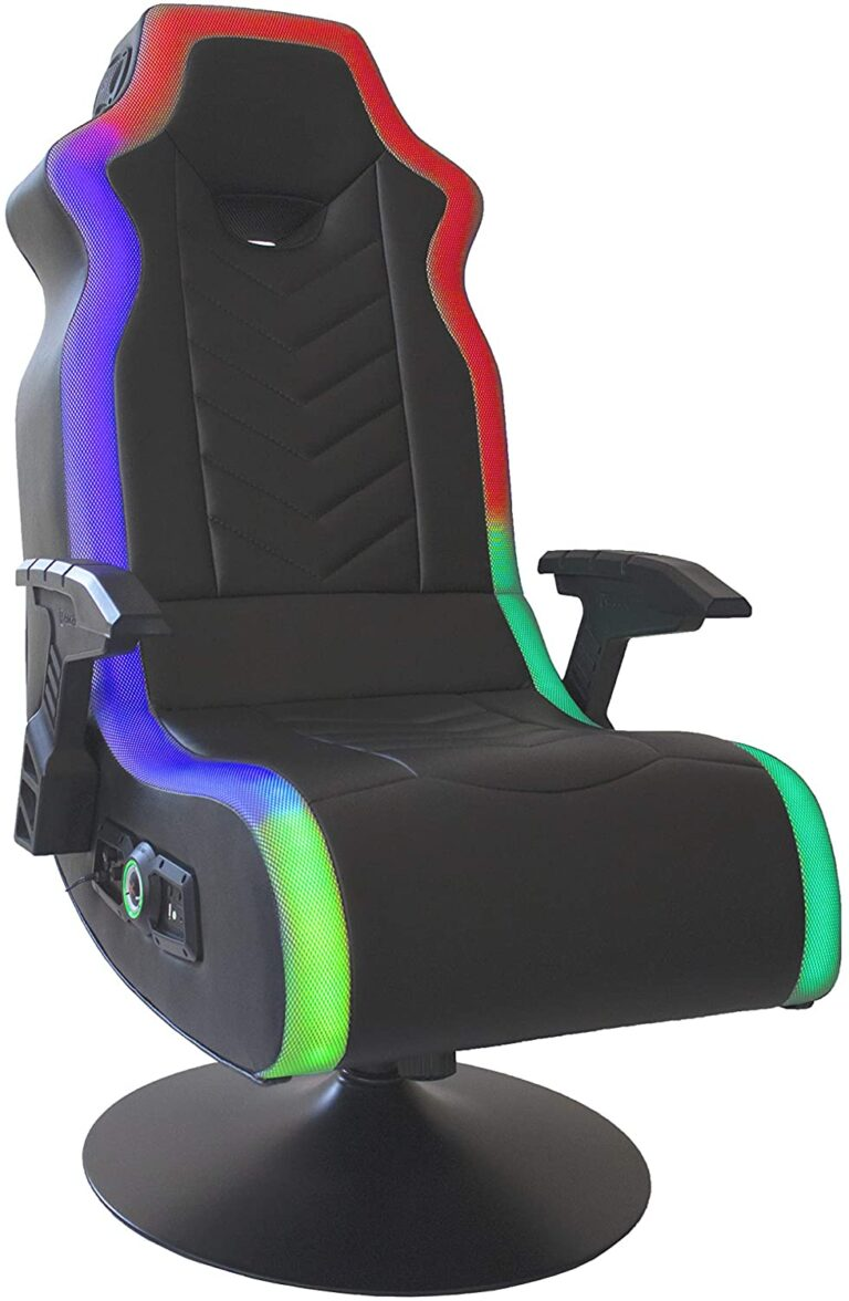 gaming chair with speakers and vibration and led lights